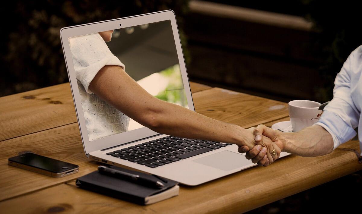 Virtueller Handschlag